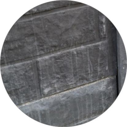 witte vlekken betonschutting