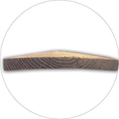 kromme plank douglashout