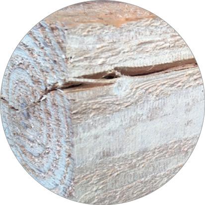 scheuren in douglas hout