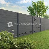 Tuinscherm Velufence graphite black