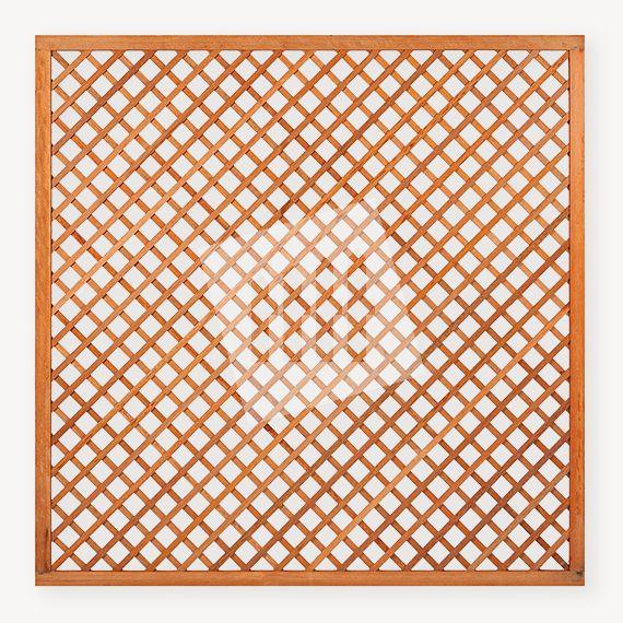 Trellisscherm hardhout Diagonaal