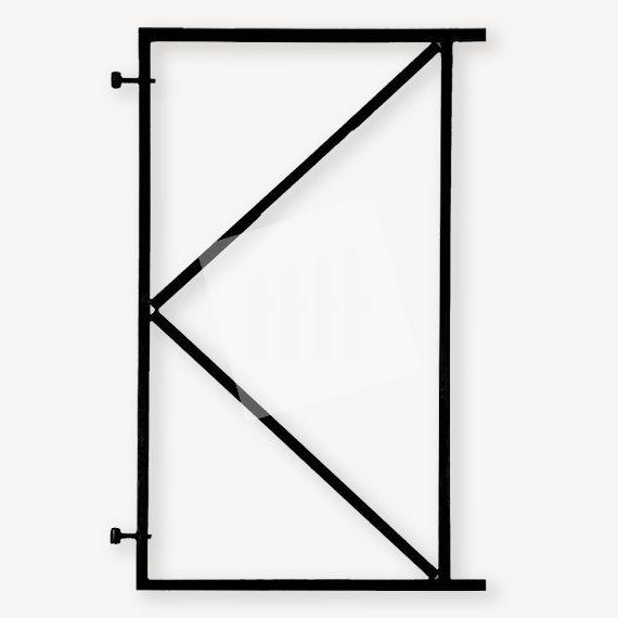 Schuttingdeur frame zwart