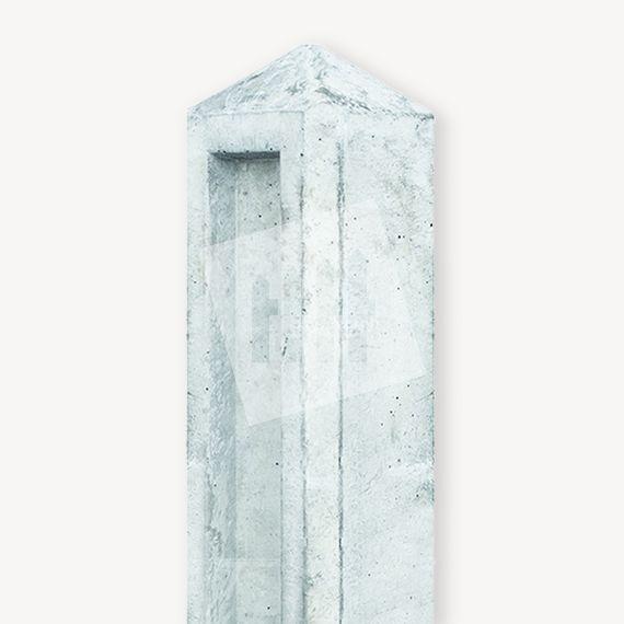 Betonpaal tuinhek grijs