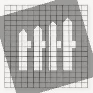 Gaasmat zwart   maas 10x10