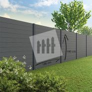 Tuinscherm Velufence graphite black
