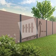 Tuinscherm Velufence wenge brown