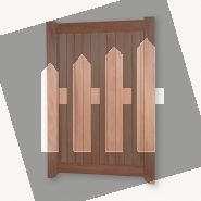 Hardhouten poortdeur