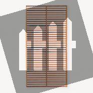 Trellisscherm hardhout Modern