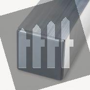 Zilver aluminium schuttingpaal